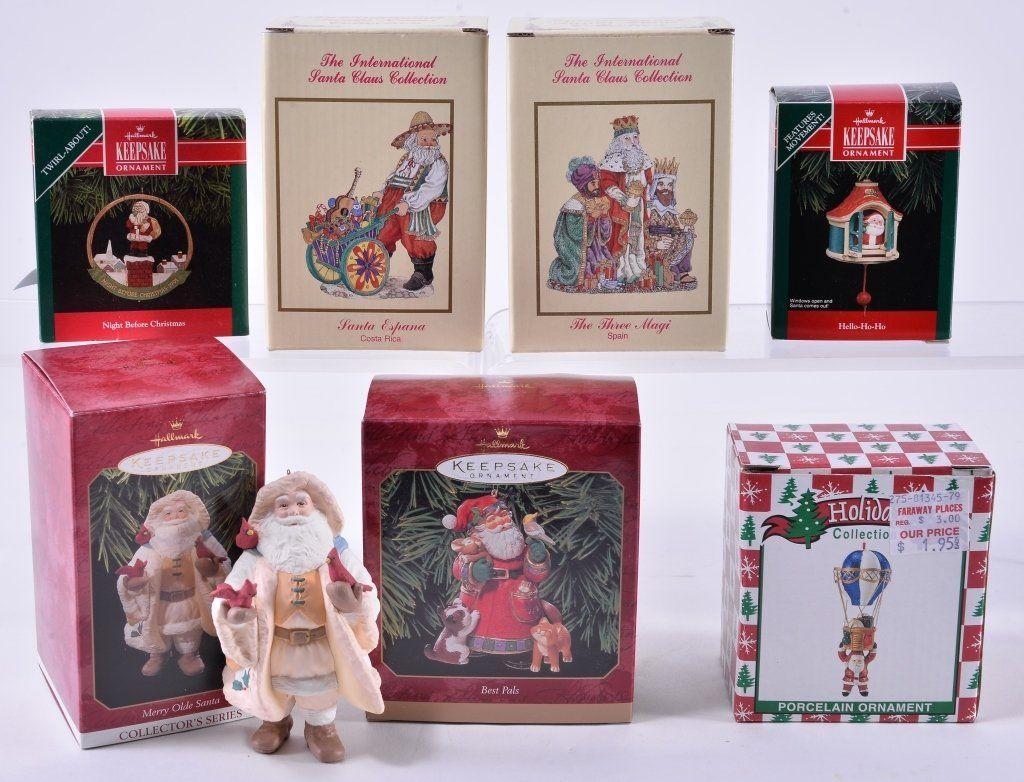 Santa Hallmark Keepsake Ornaments Plus