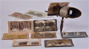Vintage Handheld Stereoscope w10 Cards