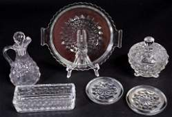American Fostoria  Jeannette Cubist Glass