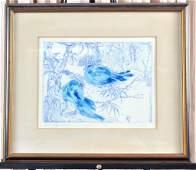 Blue Bird Limited Edition Framed Artwork
