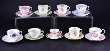 Vintage Cups  Saucers 8 English 1 Unmarked