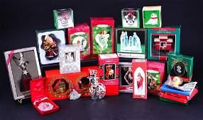 Large Lot Christmas Ornaments & Fiber Optic Tree