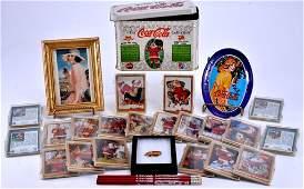 CocaCola Memorabilia inc 1994 Tin wSanta Cards