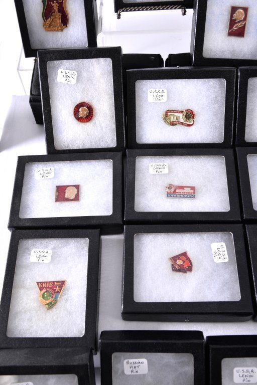28 Lenin Russian USSR Pins and Medals - 4