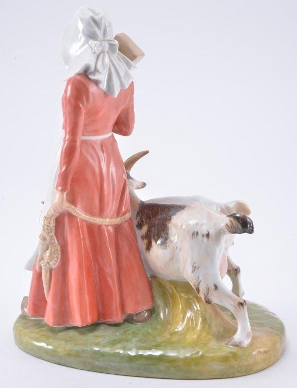 Royal Copenhagen Girl With Goats 694 - 3