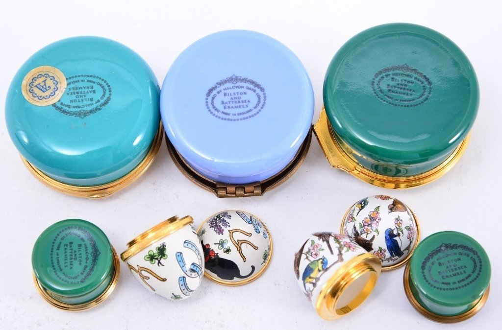 6 Halcyon Enamel Boxes and Eggs - 2