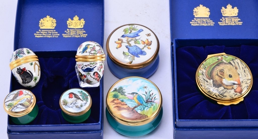 6 Halcyon Enamel Boxes and Eggs - 3