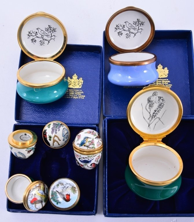 6 Halcyon Enamel Boxes and Eggs - 4
