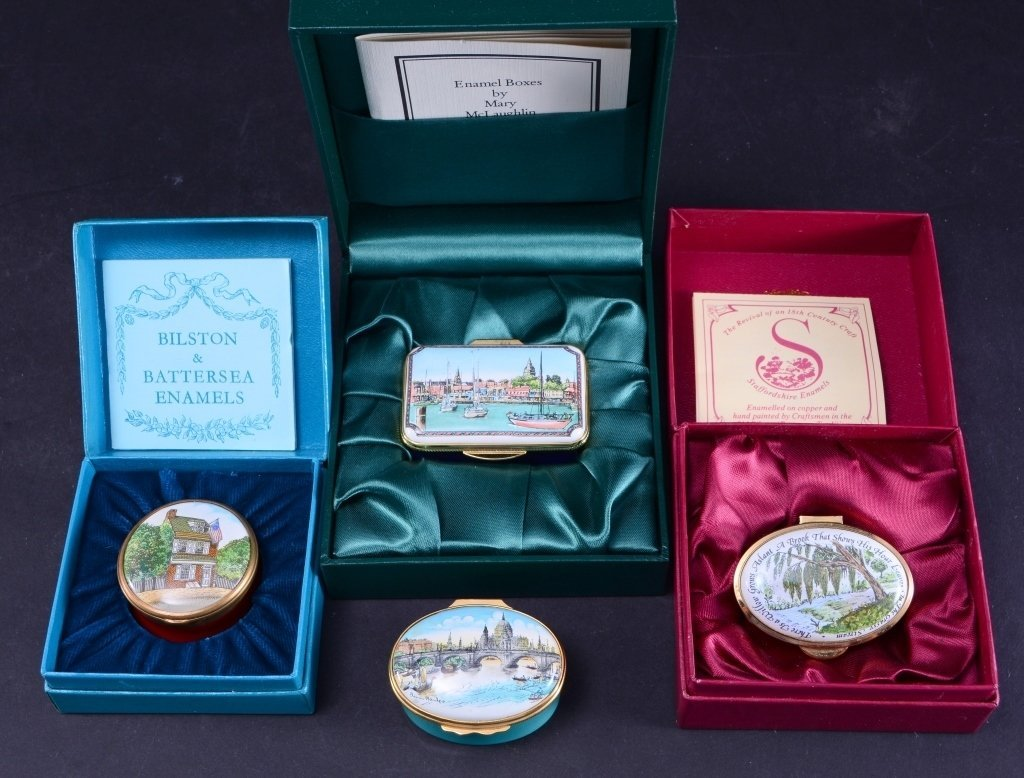 4 Enamel Boxes Inc. Halcyon and More