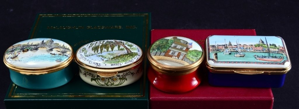 4 Enamel Boxes Inc. Halcyon and More - 2