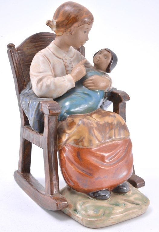 Lladro Girl In Rocking Chair 2089