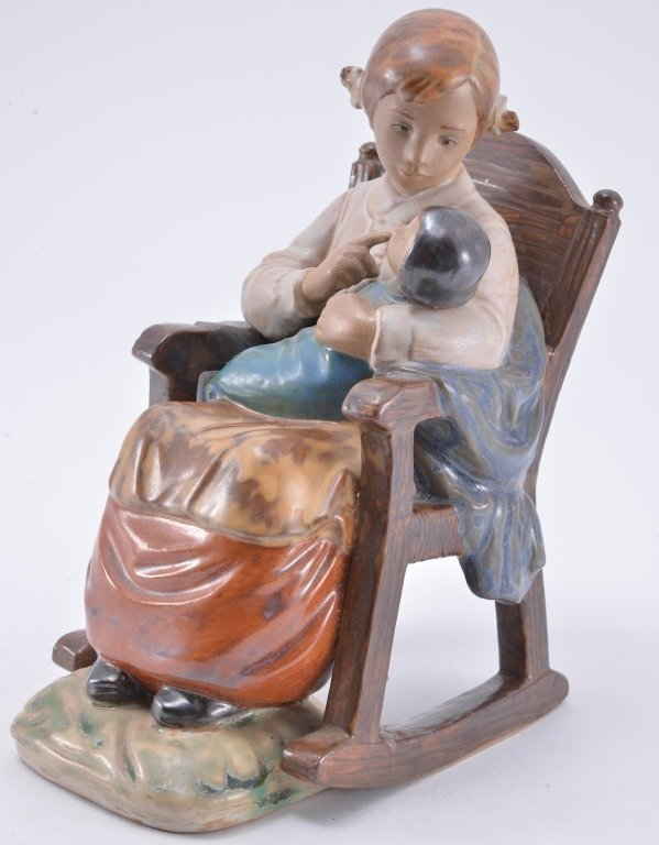 Lladro Girl In Rocking Chair 2089 - 2