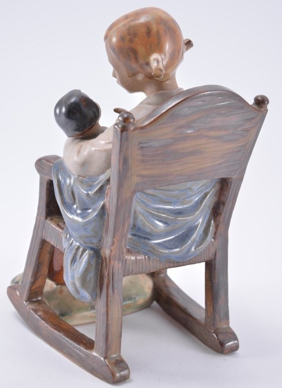 Lladro Girl In Rocking Chair 2089 - 3