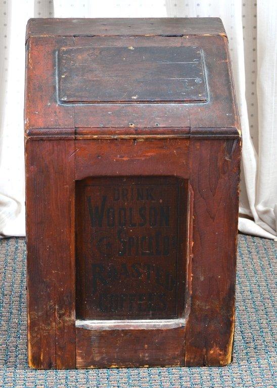 Woolson's Spice Roasted Coffee Slant Lid Box