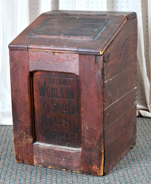 Woolson's Spice Roasted Coffee Slant Lid Box - 2