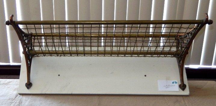 Vintage Brass & Iron Overhead Rack