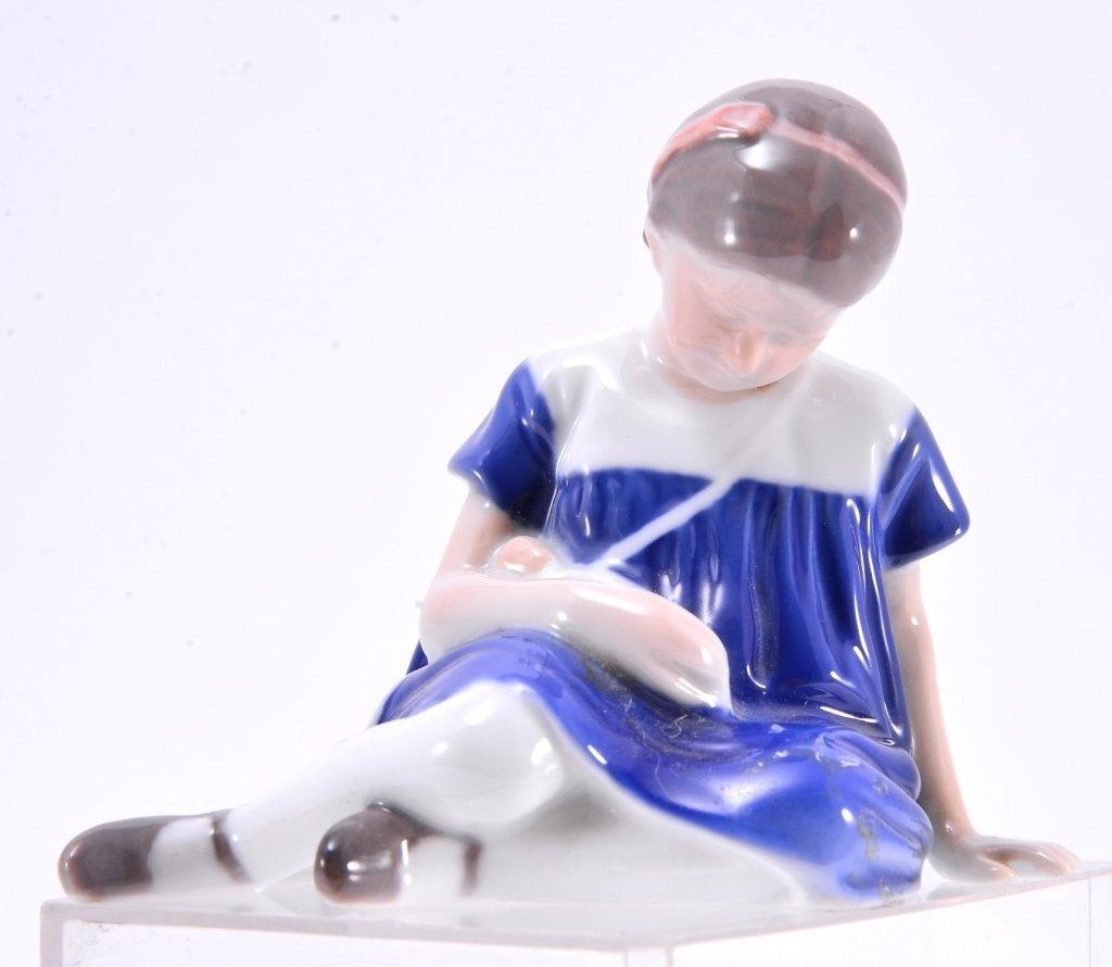 Bing & Grondahl Seated Girl w/Doll 1526