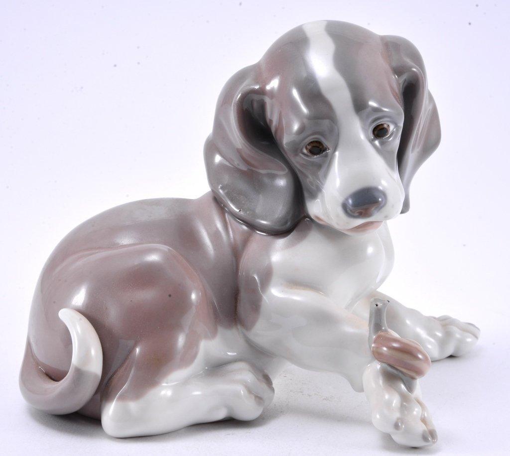 Lladro Dog & Snail 1139