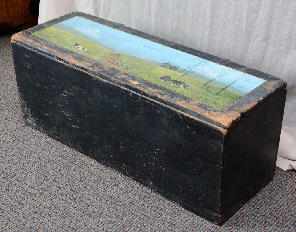 Painted Storage Chest