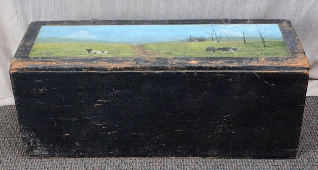 Painted Storage Chest - 4