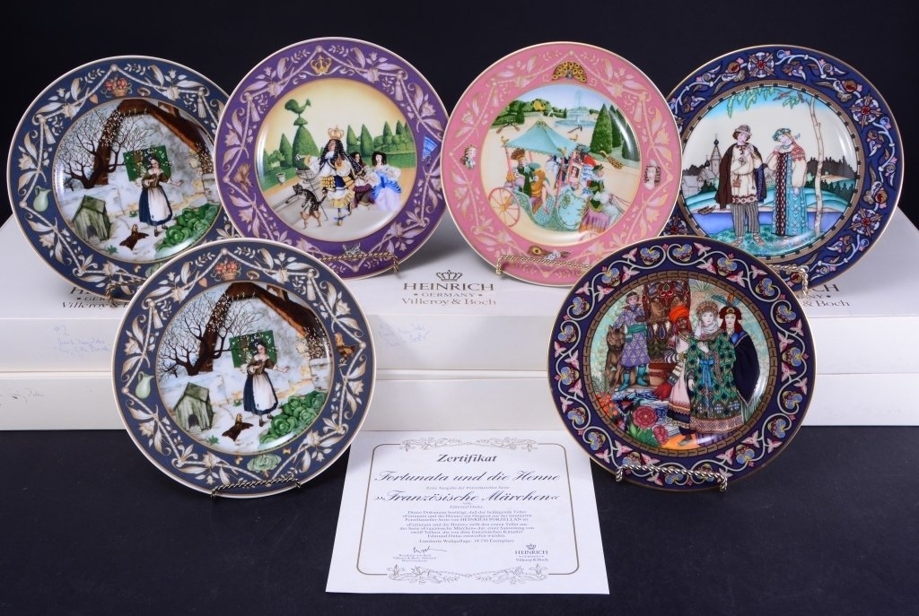 Villeroy & Boch French Fairy Tale Plates