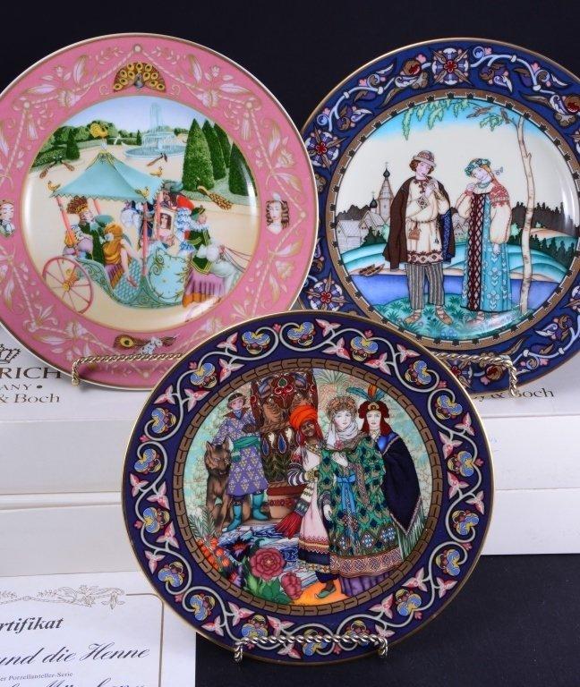 Villeroy & Boch French Fairy Tale Plates - 3