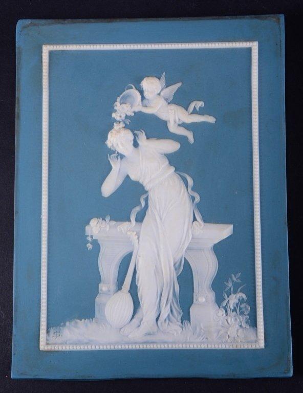 Two Jasperware Mettlach Classical Plaques - 2