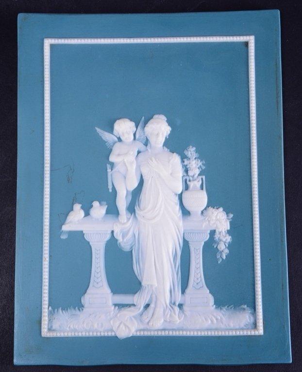 Two Jasperware Mettlach Classical Plaques - 3