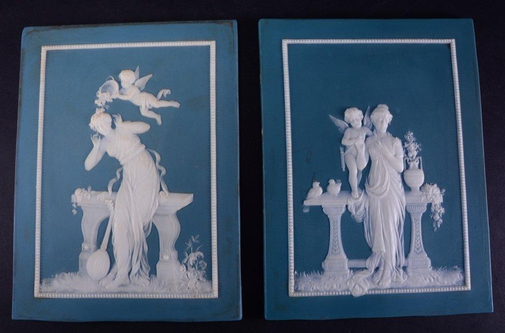 Two Jasperware Mettlach Classical Plaques - 4