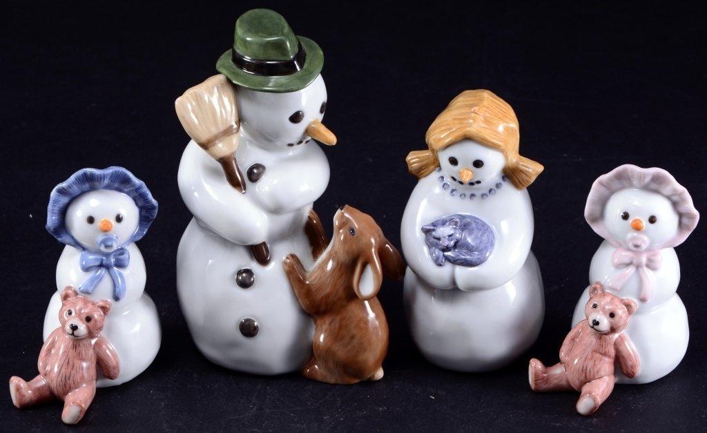 Royal Copenhagen Snow Dad, Mom & Babies