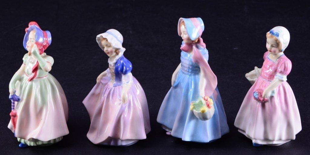 Royal Doulton 4 Girl Figurines - 2