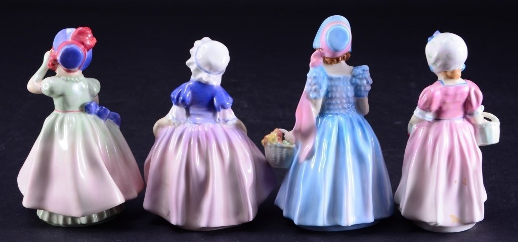 Royal Doulton 4 Girl Figurines - 3