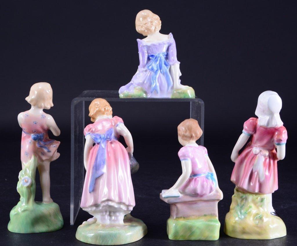 Royal Doulton 5 Girl Figurines - 3
