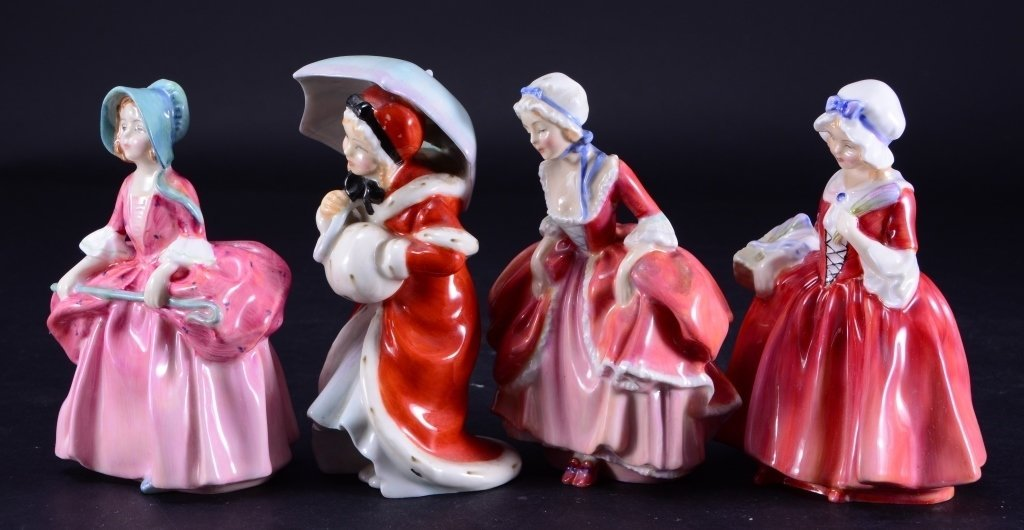 Royal Doulton 4 Lady Figurines - 2