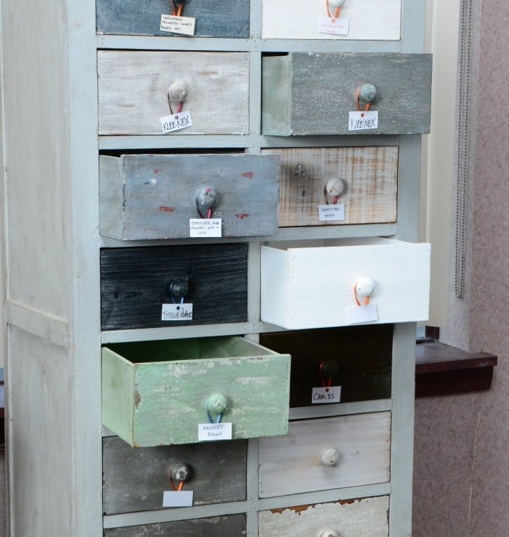 Distressed 20-Drawer Storage Chest - 2