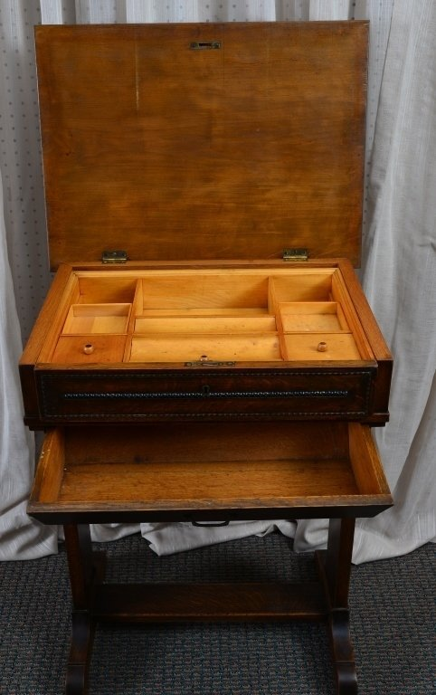 Victorian Sewing Cabinet - 4