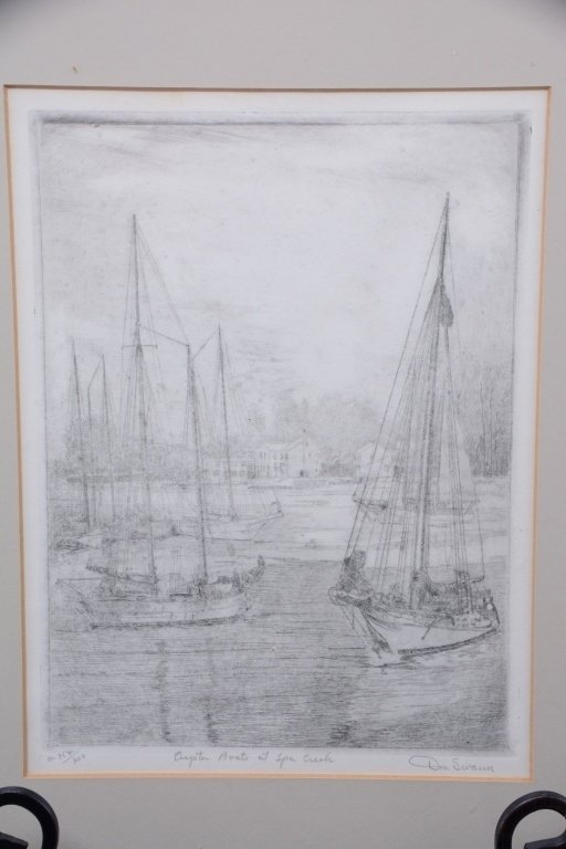 Don Swann Original Etching 152/300 - 2