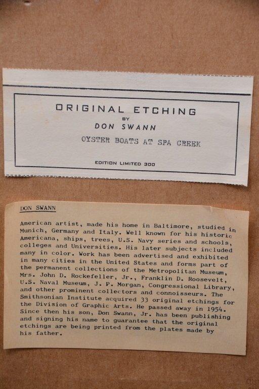 Don Swann Original Etching 152/300 - 4
