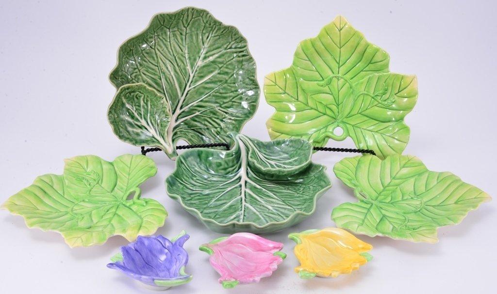 Portugal Cabbage Leaf Servers & Fitz & Floyd