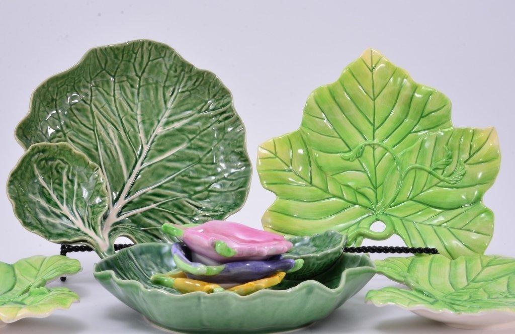 Portugal Cabbage Leaf Servers & Fitz & Floyd - 3