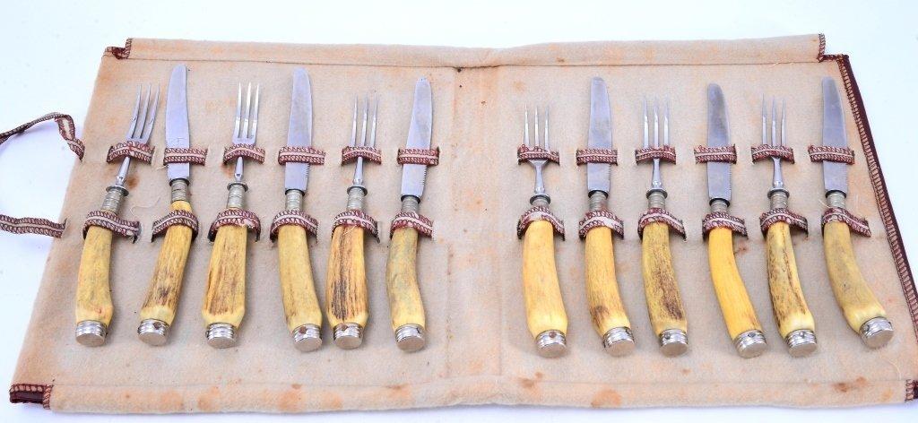 Stag Handled Knives & Forks