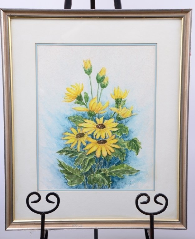 Ellen Bodiford Sunflowers Watercolor