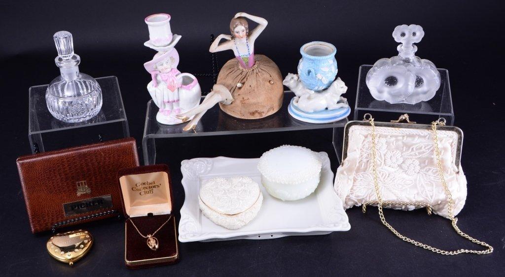 Ladies Dresser Lot w/ Vintage Pin Cushion Doll
