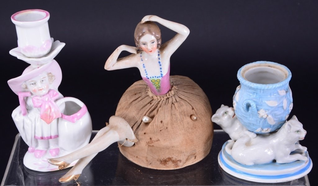 Ladies Dresser Lot w/ Vintage Pin Cushion Doll - 4