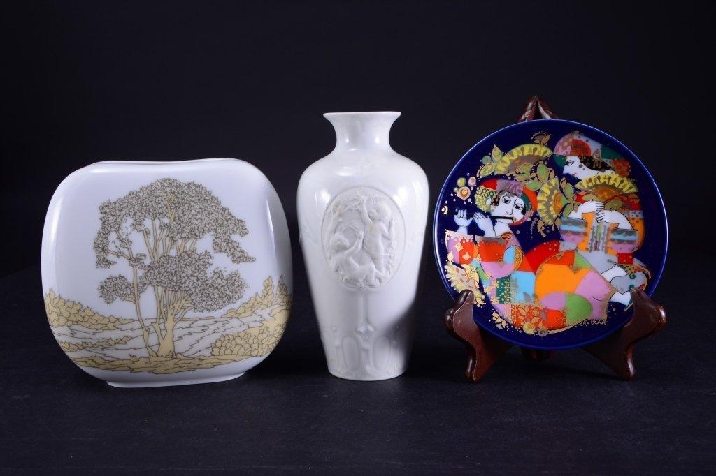 Hutschenreuther Vase, Rosenthal Plate Plus - 2