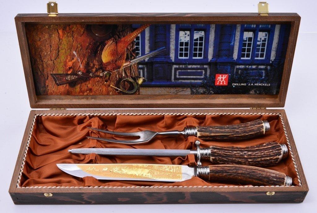 Henckels Stag Handle Carving Set