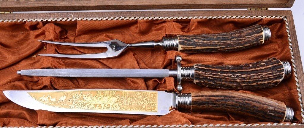 Henckels Stag Handle Carving Set - 2