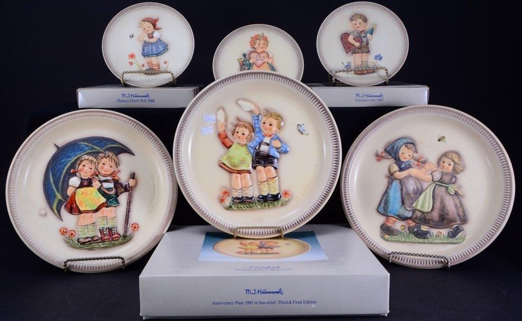 6 Hummel Plates Inc. 3 Anniversary Plates