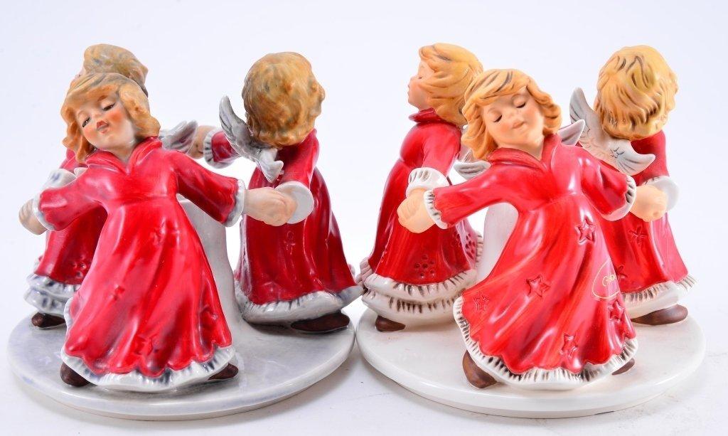 Pair Goebel Trio Angel Candleholders