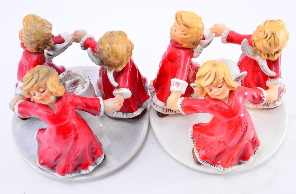 Pair Goebel Trio Angel Candleholders - 2